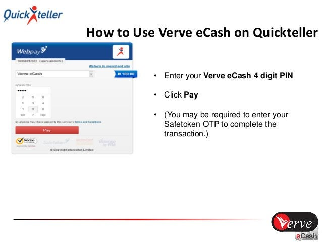How to Use Verve eCash on Quickteller • Successful transaction!