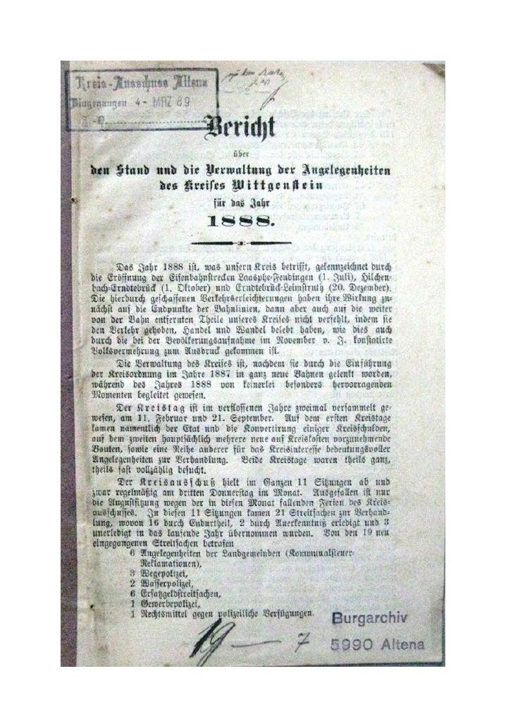 VerwaltungsberichtWittgenstein1888
