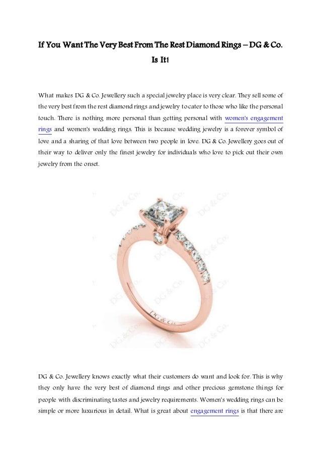 Very Best Wedding Rings DG Co Jewellery