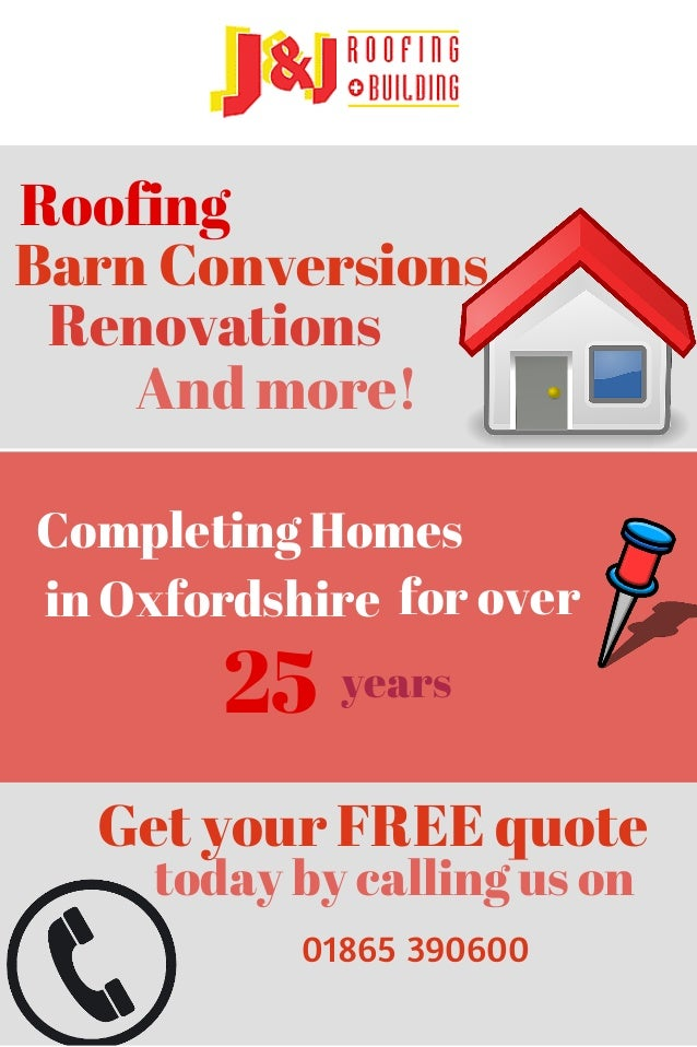 Roofing  Barn Conversions  Renovations  And more!  Completing Homes  in Oxfordshire for over  25  years  Get your FREE quo...