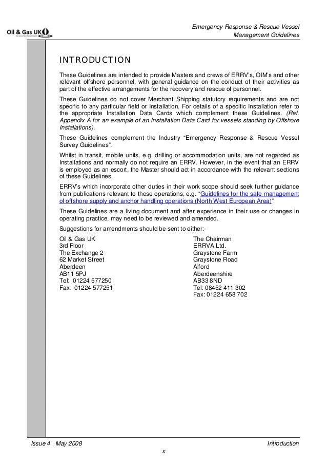 Ves04 Errv Management Guidelines Issue 4
