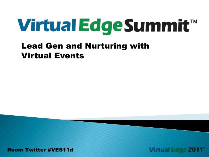 Lead Gen and Nurturing with <br />Virtual Events<br />Room Twitter #VES11d<br />
