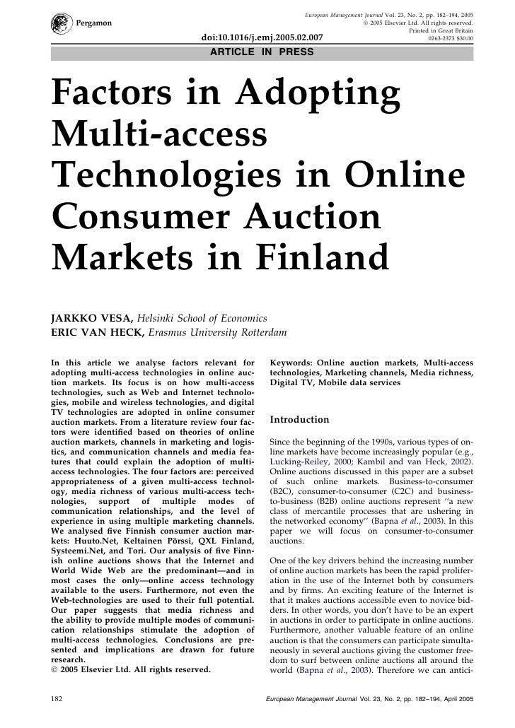 European Management Journal Vol. 23, No. 2, pp. 182–194, 2005                                                             ...