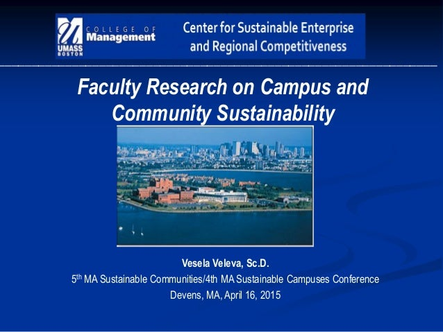 _________________________________________________________________ Faculty Research on Campus and Community Sustainability ...