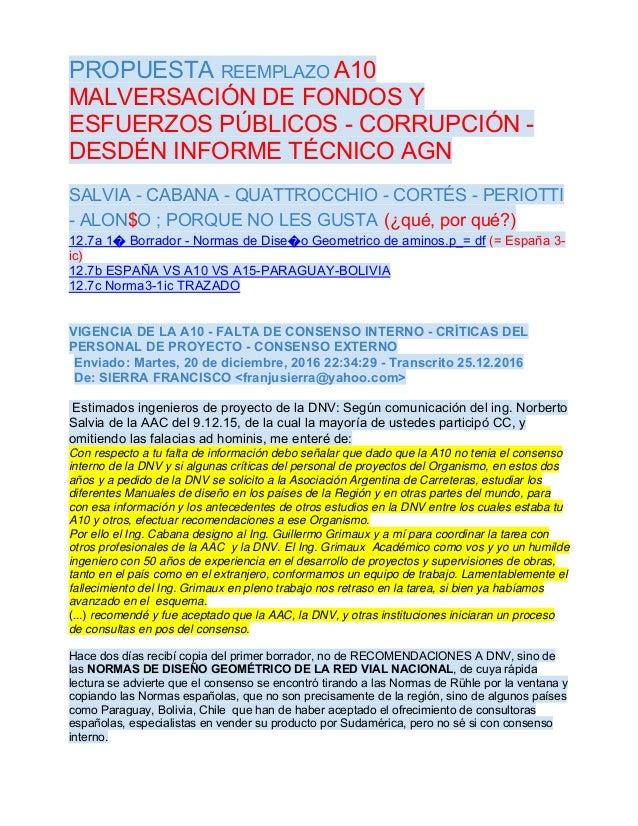 PROPUESTA REEMPLAZO A10 MALVERSACIÓN DE FONDOS Y ESFUERZOS PÚBLICOS - CORRUPCIÓN - DESDÉN INFORME TÉCNICO AGN SALVIA - CAB...