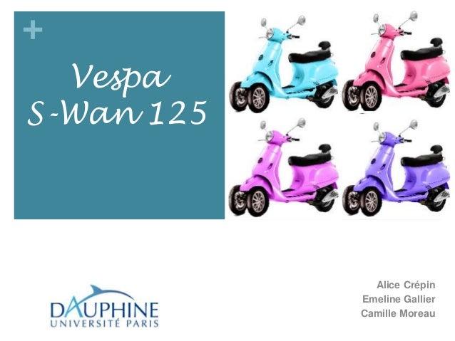 +  VespaS-Wan 125              Alice Crépin            Emeline Gallier            Camille Moreau