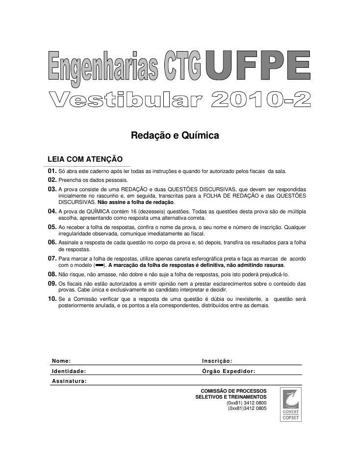Redação e QuímicaLEIA COM ATENÇÃO01. Só abra este caderno após ler todas as instruções e quando for autorizado pelos fisca...