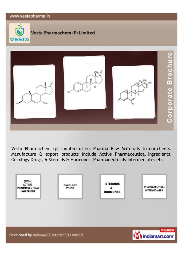 Vesta Pharmachem (p) Limited offers Pharma Raw Materials to our clients.Manufacture & export products include Active Pharm...