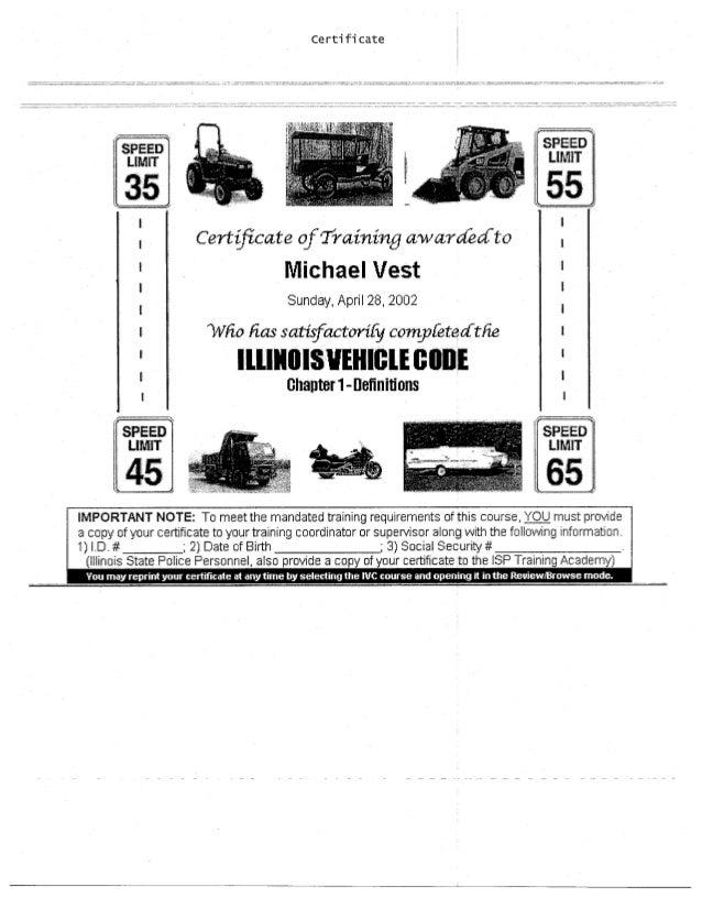 Vest certificates1
