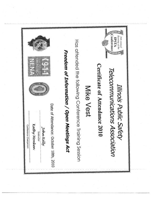 Vest certificates2