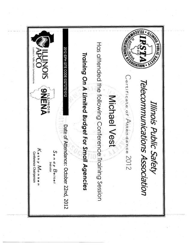 Vest certificates3
