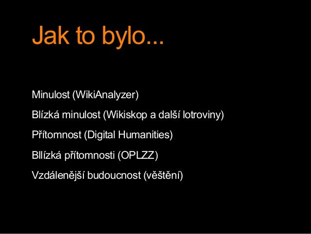 Věštění (s) Wikipedií Slide 3