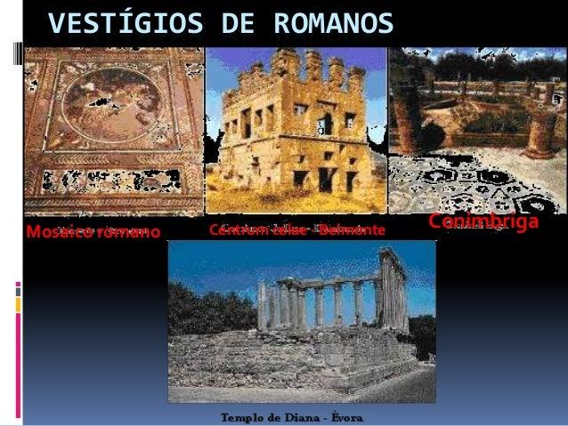 VESTÍGIOS DE ROMANOSMosaico romano   Centrum celae - Belmonte   Conímbriga