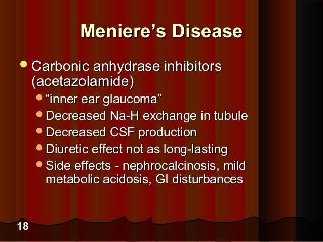 Acetazolamide for menieres disease