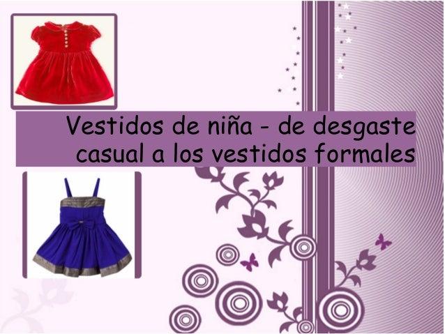 Vestidos de niña - de desgaste casual a los vestidos formales