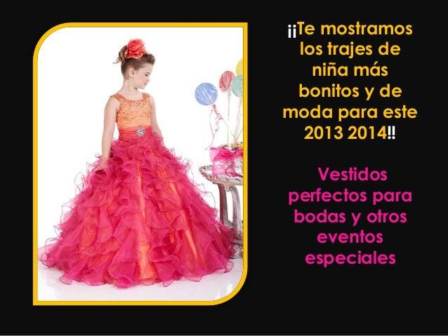 ஐ Vestidos Niña Bonitos Y Baratos2013 2014