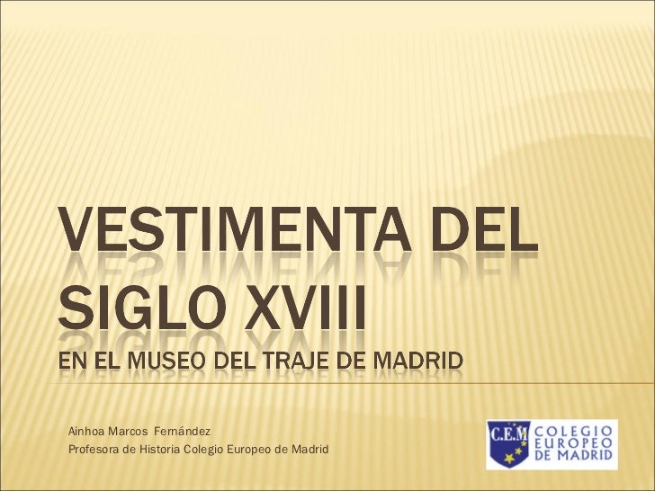 Ainhoa Marcos  Fernández Profesora de Historia Colegio Europeo de Madrid