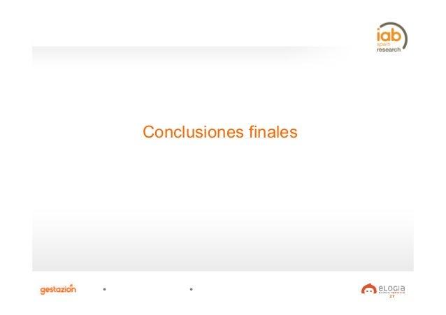27 Conclusiones finales