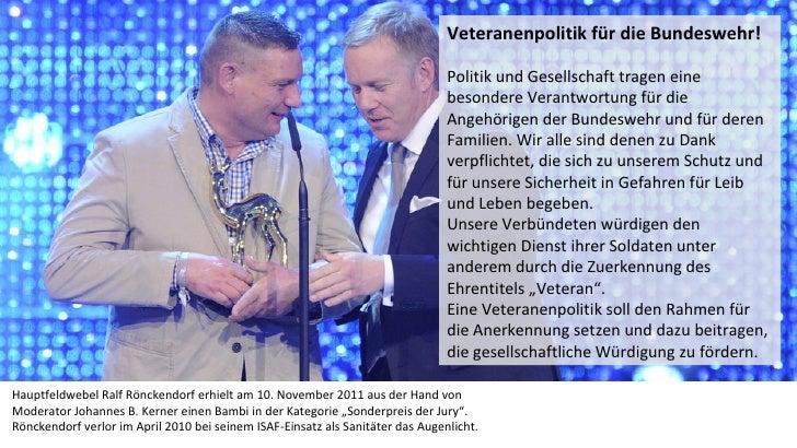 Veteranenpolitik für die Bundeswehr!                                                                                Politi...