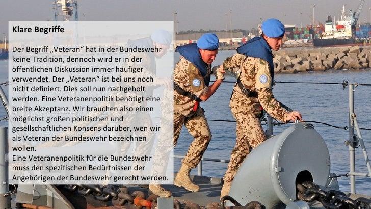 """Klare BegriffeDer Begriff """"Veteran"""" hat in der Bundeswehrkeine Tradition, dennoch wird er in deröffentlichen Diskussion im..."""