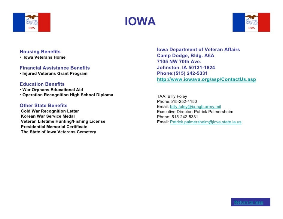 Veterans benefits by state for Iowa fishing license cost