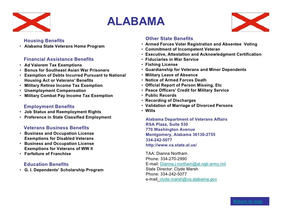 Veterans benefits by state for Alabama lifetime hunting and fishing license