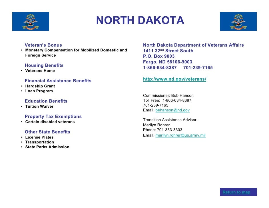 Veterans benefits by state for North dakota fishing license