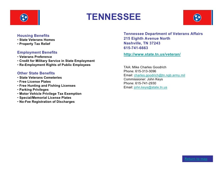 Veterans benefits by state for Tn fishing license online