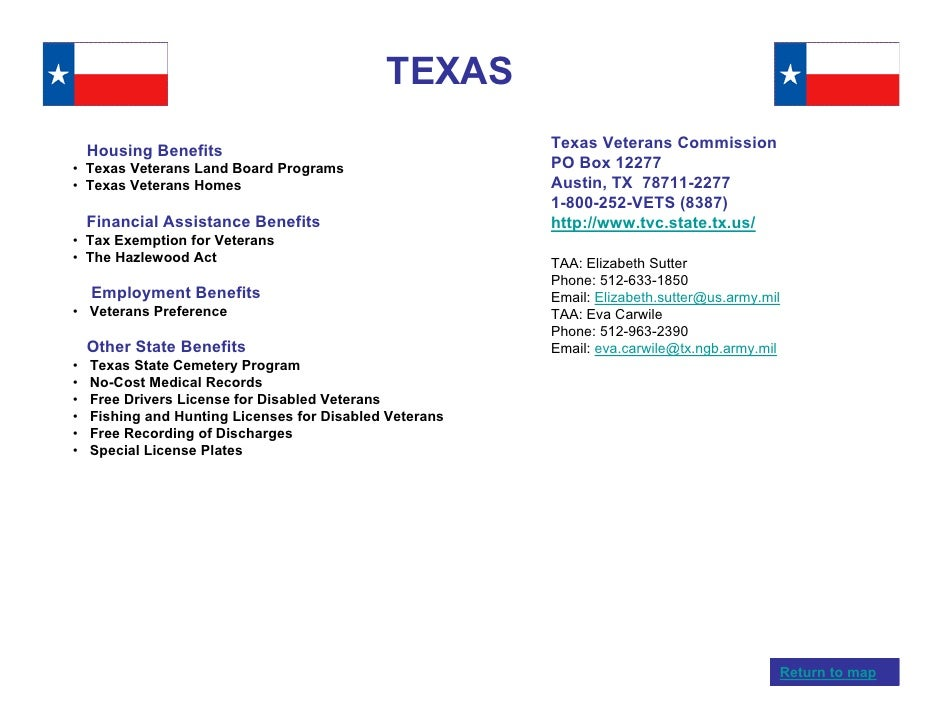 Veterans benefits by state for Fishing license in texas