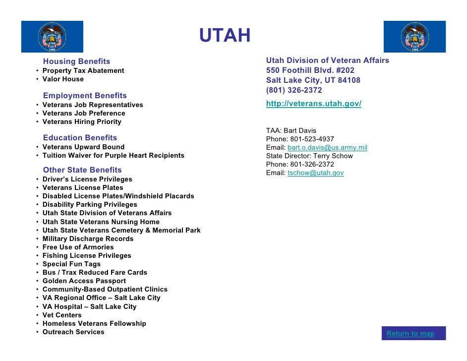 Veterans benefits by state for Utah fishing license cost