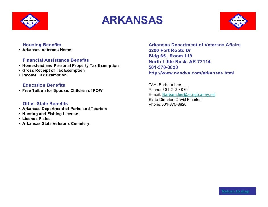 Veterans benefits by state for Arkansas fishing license cost