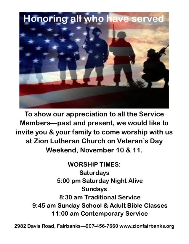 Honoring all who have served   To show our appreciation to all the Service  Members—past and present, we would like toinvi...