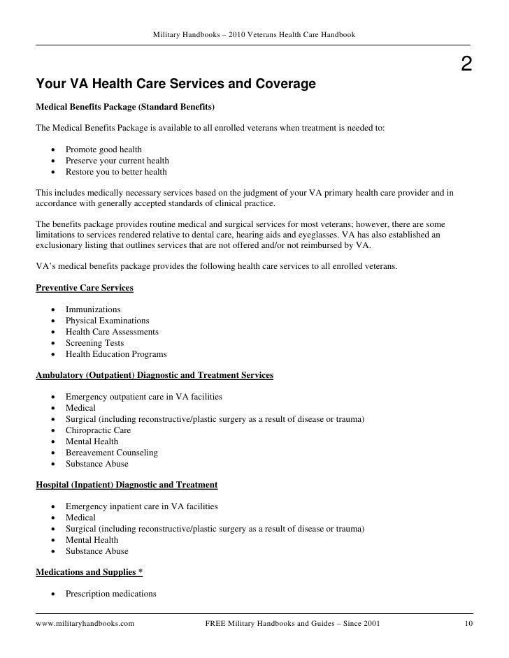 Veterans health handbook 2010