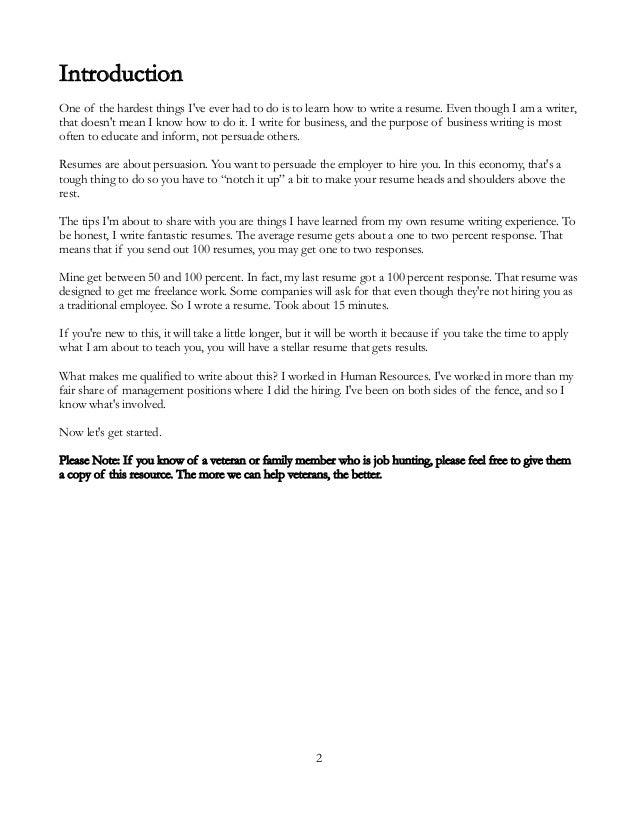 Veterans Resume Guide Jinger Jarrett Http://jingerjarrett.com; 2.