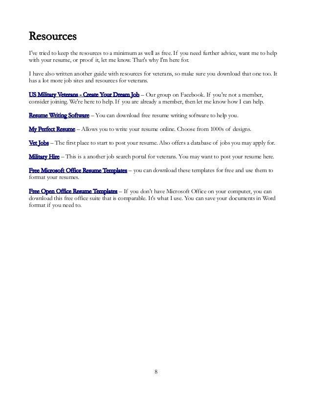 Veterans Resume Guide