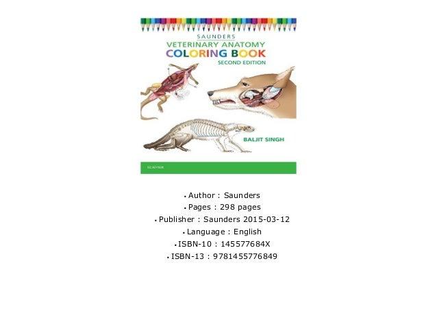 - Veterinary Anatomy Coloring Book