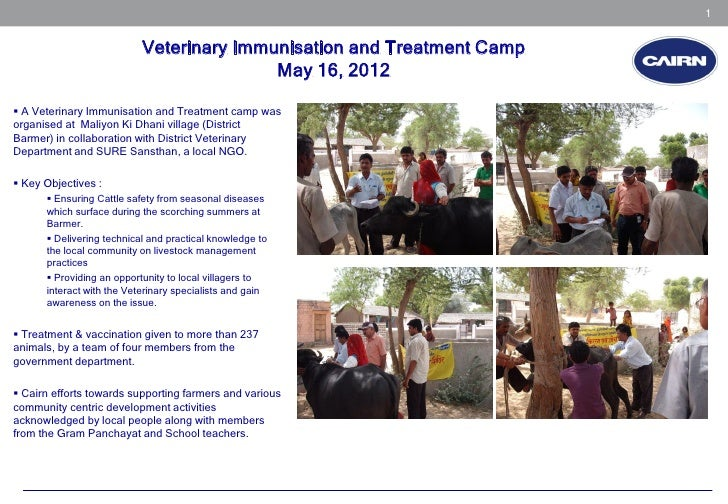 1                           Veterinary Immunisation and Treatment Camp                                          May 16, 20...
