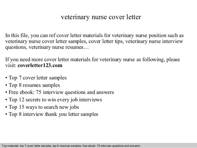 veterinary nurse cover letter in this file you can ref cover letter materials for veterinary - Cover Letter For Veterinarian