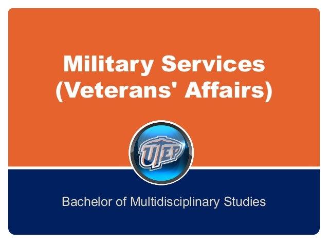 Military Services (Veterans' Affairs) Bachelor of Multidisciplinary Studies