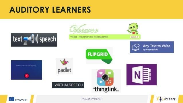 www.etwinning.net AUDITORY LEARNERS