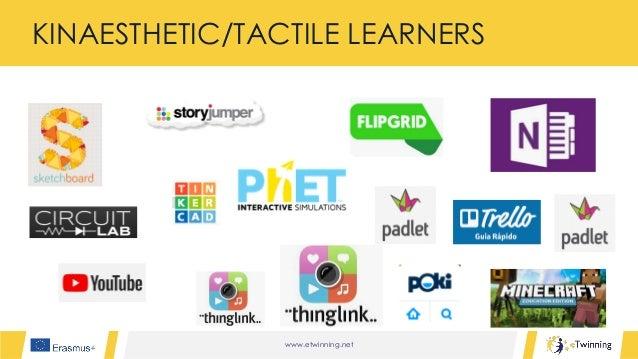 www.etwinning.net KINAESTHETIC/TACTILE LEARNERS