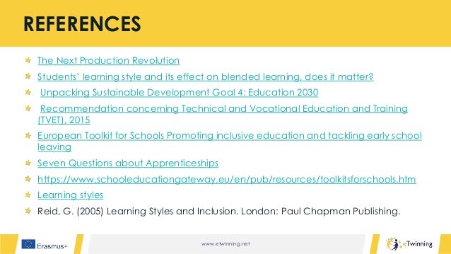 www.etwinning.net The Next Production Revolution Students' learning style and its effect on blended learning, does it matt...