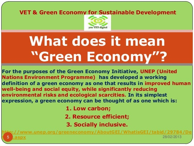 Sustainable development and the greening of