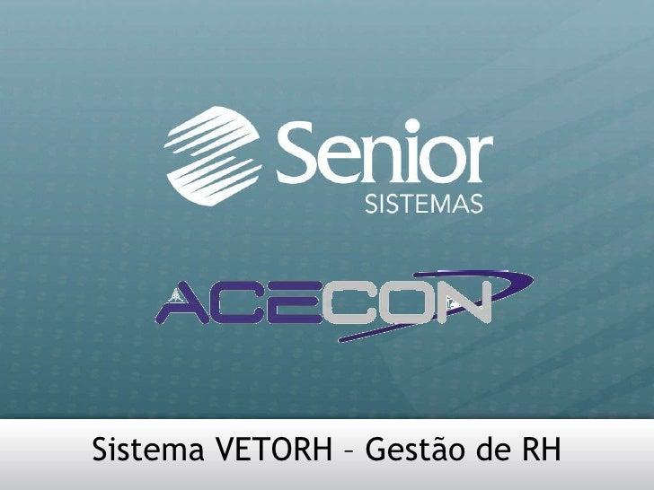 Vetorh®: software de gestão de recursos humanos