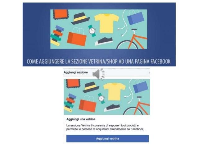 APRIRE UNA VETRINA su Facebook