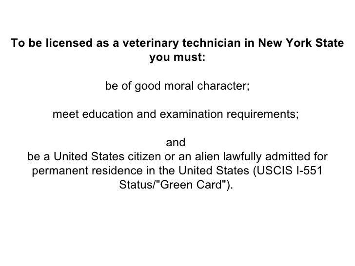 vet tech licensing