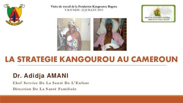 LA STRATEGIE KANGOUROU AU CAMEROUN Dr. Adidja AMANI Chef Service De La Santé De L'Enfant Direction De La Santé Familiale V...