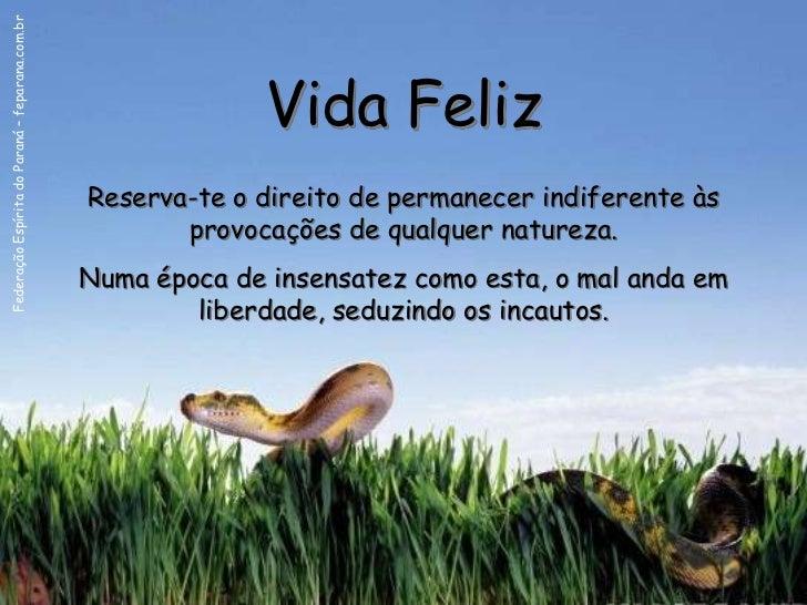 Federação Espírita do Paraná – feparana.com.br                                                               Vida Feliz   ...