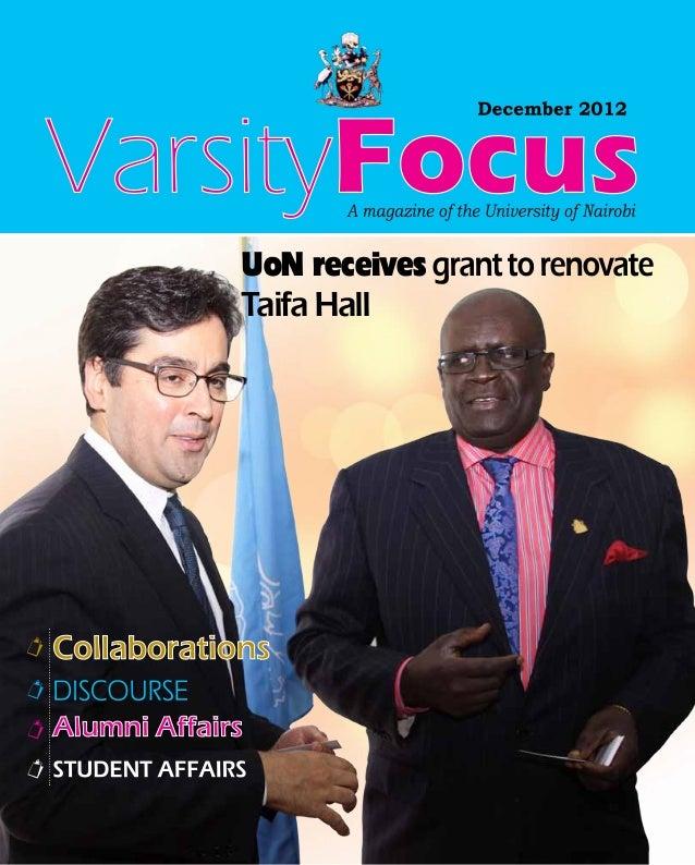UoN receives grant to renovateTaifa Hall