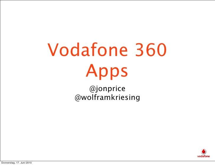 Vodafone 360                                 Apps                                  @jonprice                              ...